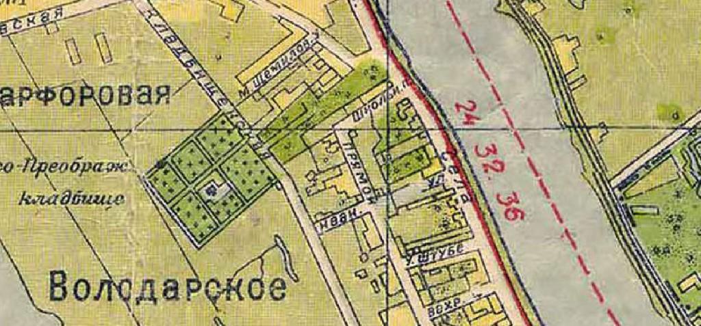 Фарфоровское кладбище, Ленинград, 1933